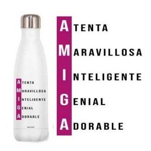 Botellas de acero con frases